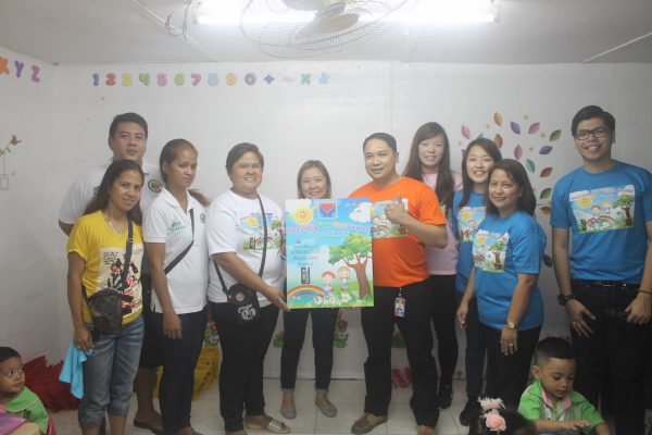 Maytubig Day Care Teachers pose with Hotel Jen Manila's Mr. Don Bazar – Director of Human Resources, Ms.Cris del Rosario - Financial Controller , Mr. RB Puno – Human Resources Manager and SLIM Auditors.