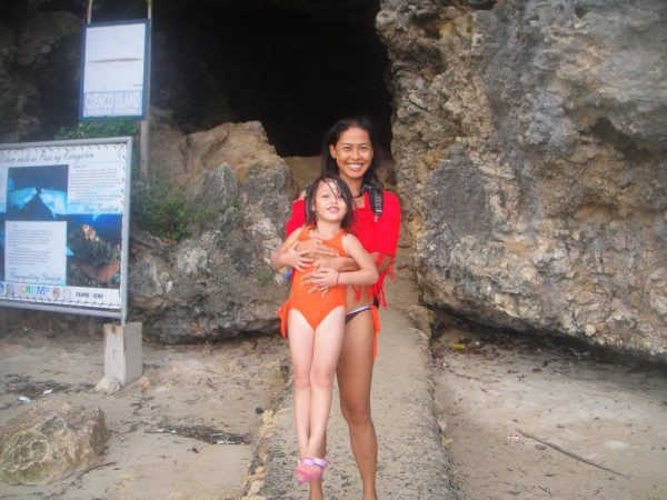 Ready to walk through the cave at Cuenco Island and jump off the cliff
