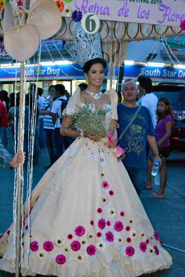 the arches and gowns were made from abaca