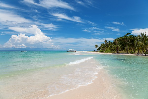 Beautiful beach on Bantayan island, Cebu