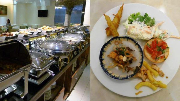 Breakfast buffet at Blue Diamond Hotel