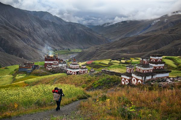 Saldang village in Dolpo Nepal