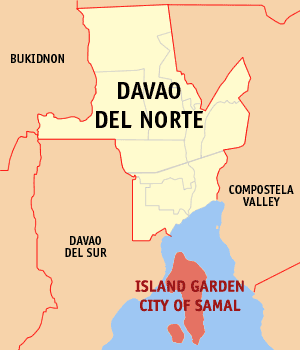 Samal Island Map
