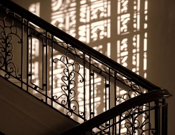 Staircase silhouette inside the Museum of the Filipino People
