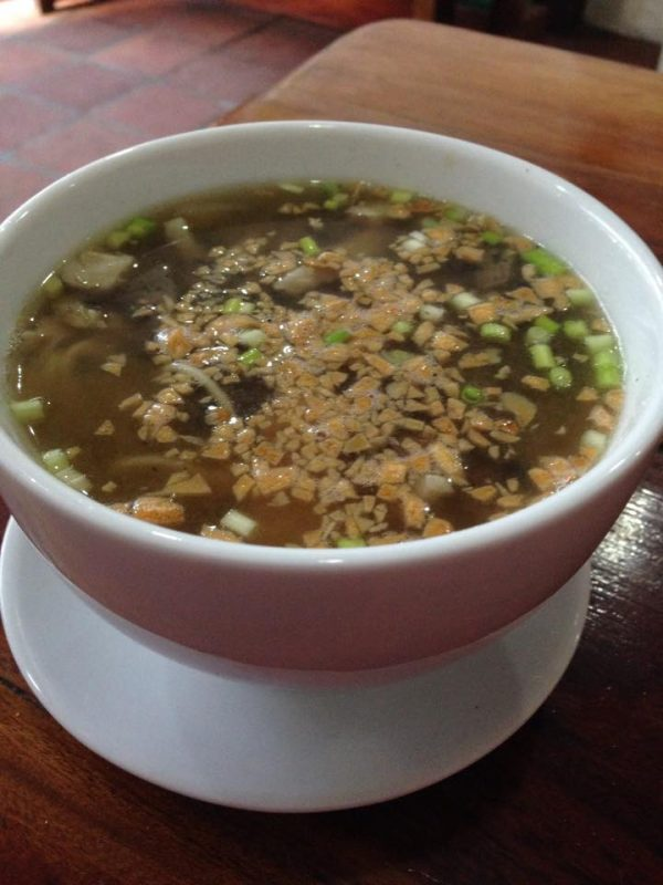 Batchoy with lots of garlic