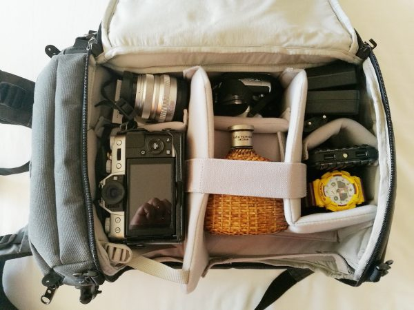 Camera and Accessories Compartment