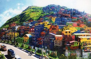 Houses in Barangay Balili in La Trinidad, Benguet were turned into a colorful mural. Photo courtesy of Department of Tourism - CAR