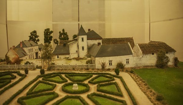 A model of La Haye Saintea large farmhouse where some of the fiercest fighting took place.