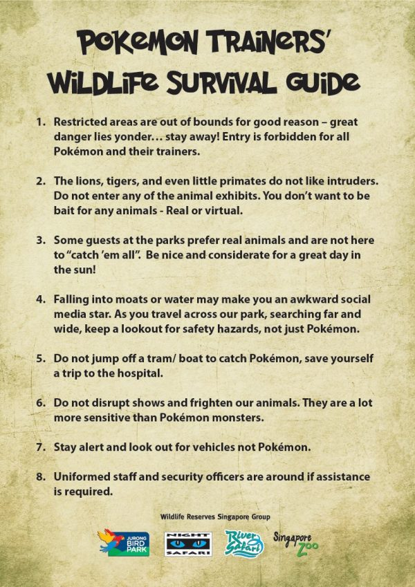 Pokemon Trainers - Wildlife Survival Guide