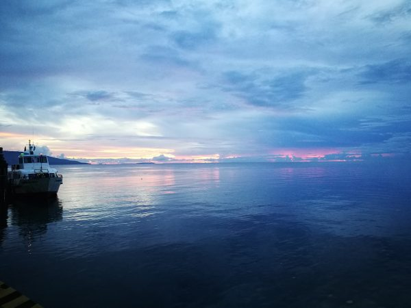 Sunrise at the Sibulan Port