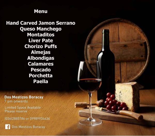 A sense-enticing menu for this historical day in Spain only at Dos Mestizos Boracay