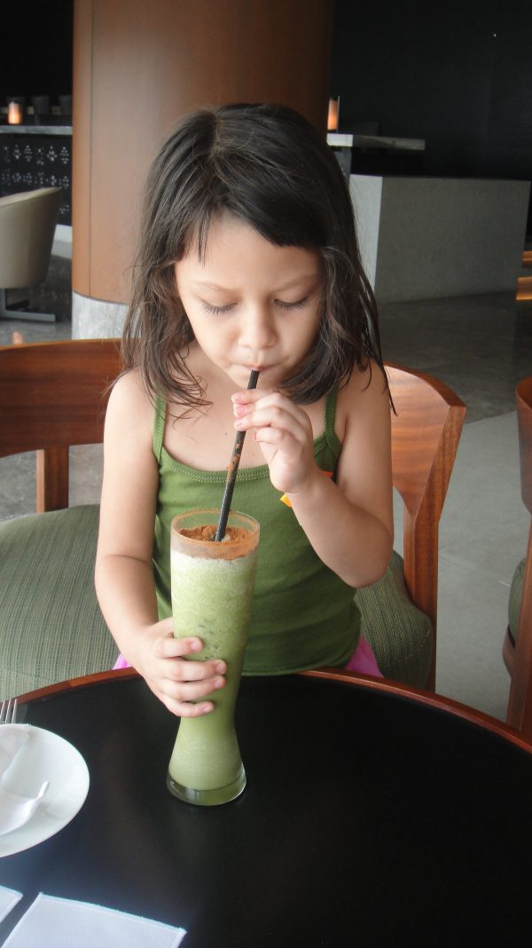 Luna gets her soulful refreshment from the Green Matcha Smoothie
