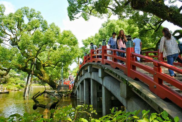 Red Bridge at Dazaifu Tenmagu Shrine