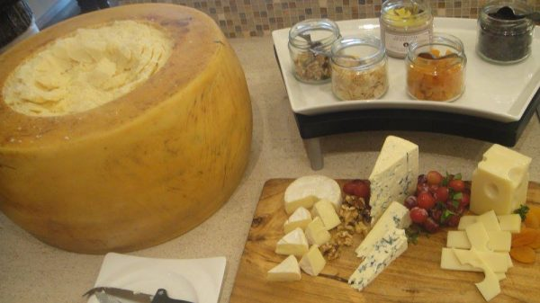 A selection of fine cheeses up for grabs