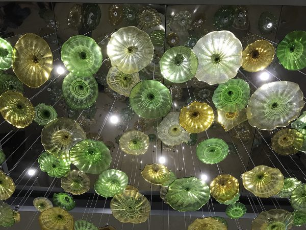 Chandelier at Belmont Lobby