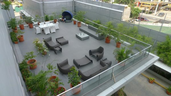 Alfresco lounge on the second level.