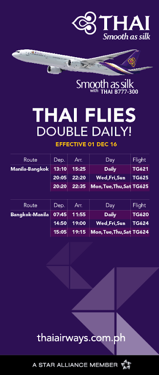 Flights From Manila to Bangkok via Thai Airways