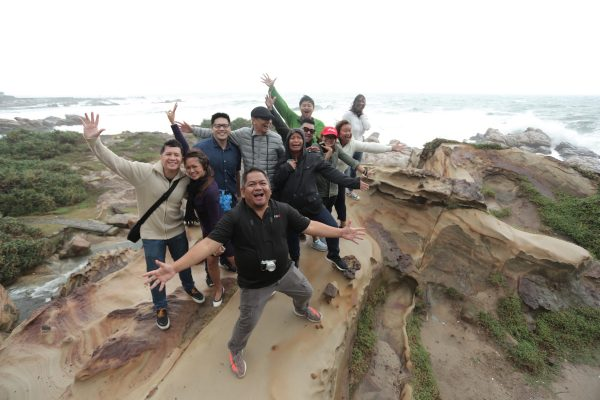 Fun Shot ontop of a Rock Formation in Nanya, Northeast Coast of Taiwan photo by Manuel Chua