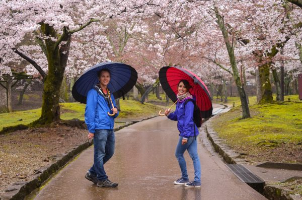 Matthew Bailey and wife Karla in Japan