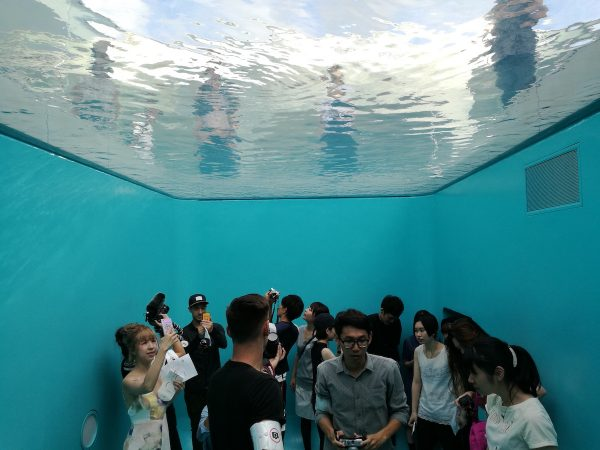 Swimming Pool where people appear to be underwater