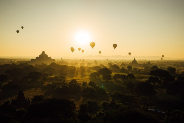 Hot Air Balloon in Old Bagan