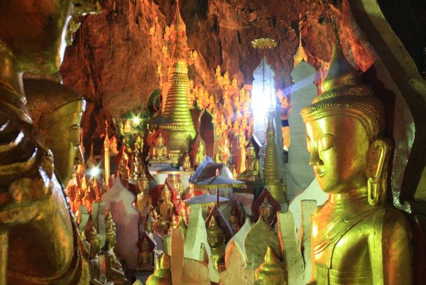 Inside the Pindaya Caves