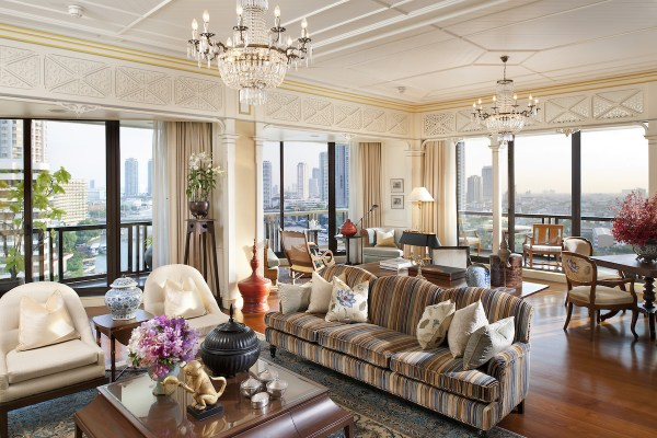 Mandarin Oriental Bangkok Oriental Suite Living Room