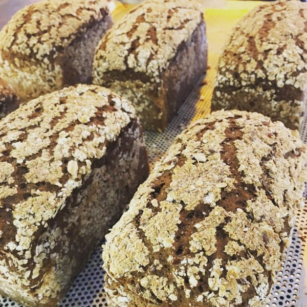 Multi-grain, rye mini loaf bread for the health tripper