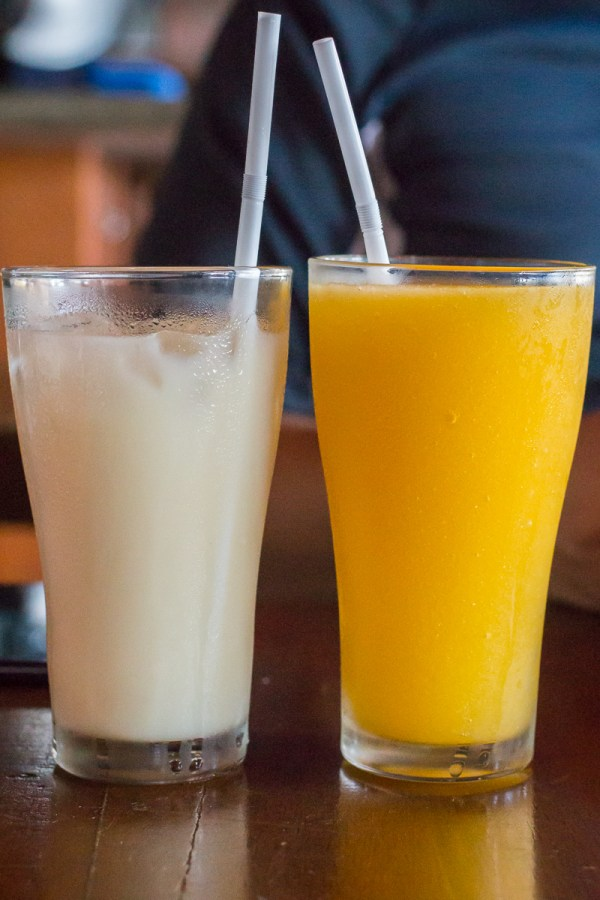 Horchata and Agua Fresca Mango