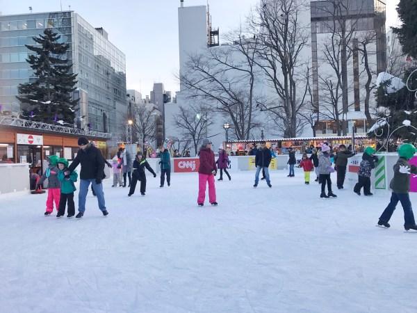 Ice skating rink in Odori Park