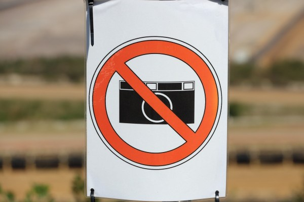 No Photography Zone