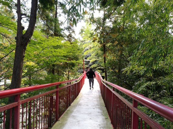Red Bridge leading to Shinpuku-ji Temple Restaurant