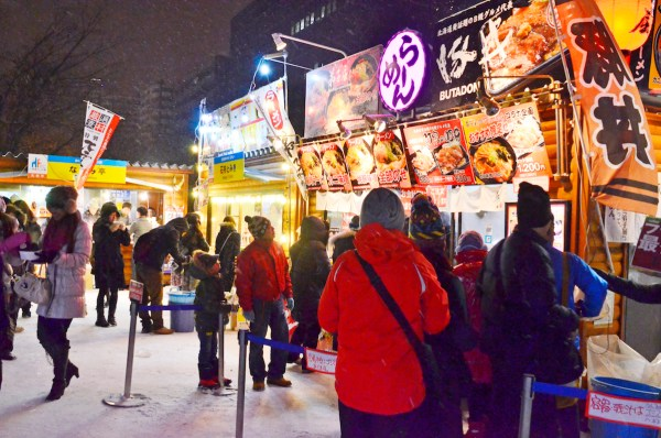 Street Food Shops at Sapporo Snow Festival Grounds