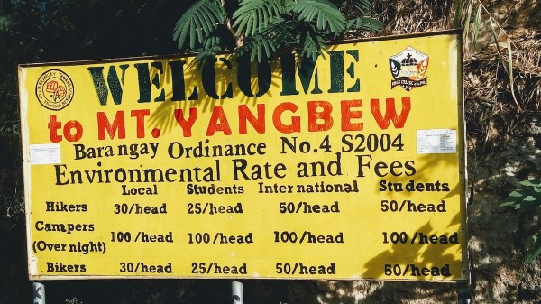 The barangay collects environmental fees to maintain and protect its natural resources.