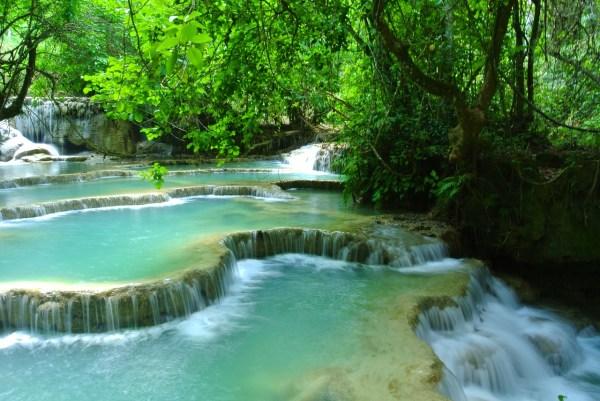 Waterfalls in Luang Prabang - Southeast Asia