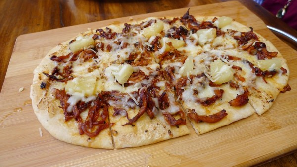 BBQ Pulled Pork & Pineapple in Flat Bread