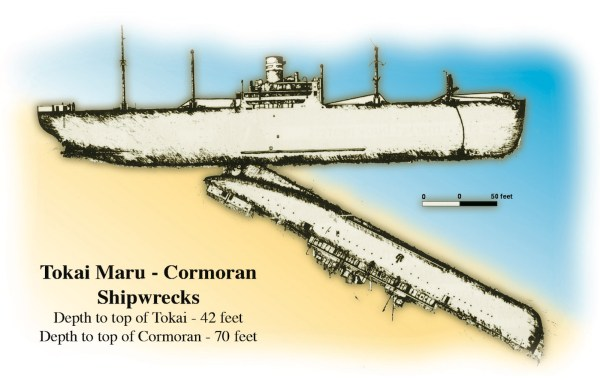 Guam Tokai-Cormoran wrecks