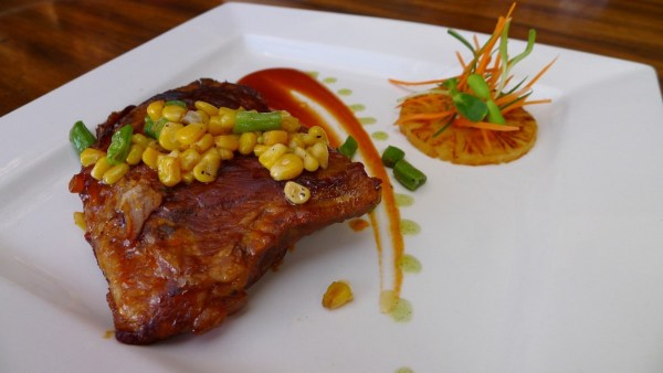 Smoked Baby Back Ribs served with Herb Vegetable Rice and Corn