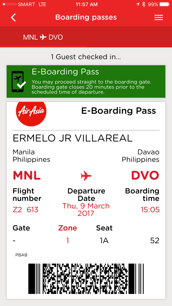 Step 5 - Save and print your AirAsia e-Boarding pass
