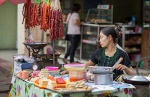 Street food in Yangon Chinatown