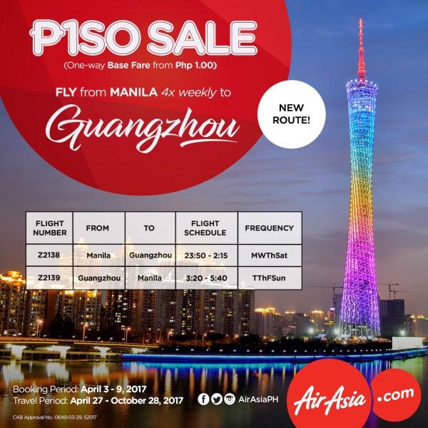 AirAsia Manila-Guangzhou Flights