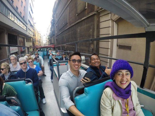 Barcelona Tour Bus photo by Mark Angelo Acosta