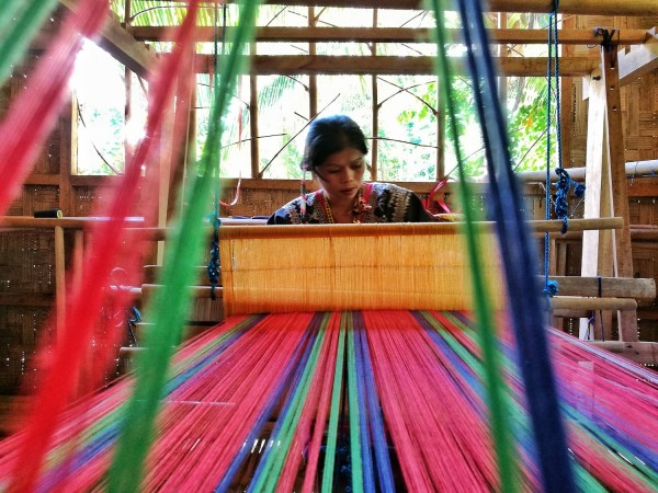 Blaan Women inside the weaving center