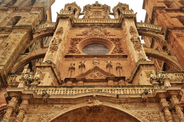 Facade of the Astorga Cathedral.