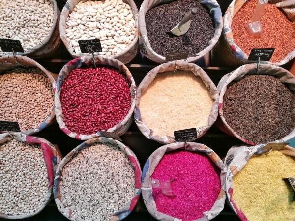 Grains and Beans at Mercado de San Anton