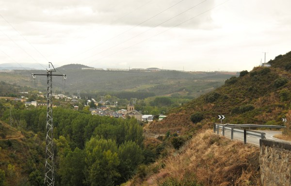 I took a breather here to appreciate the view overlooking the town of Molinaseca.
