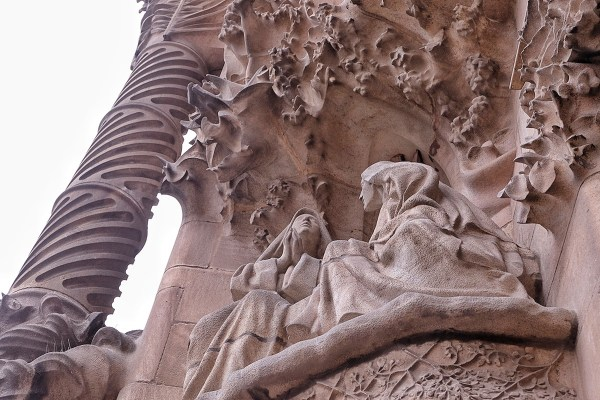 Intricate statues and structures