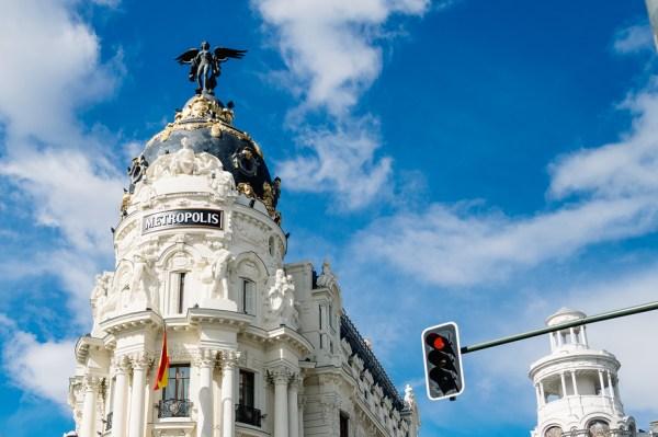 Metropolis building in Gran Via in Madrid