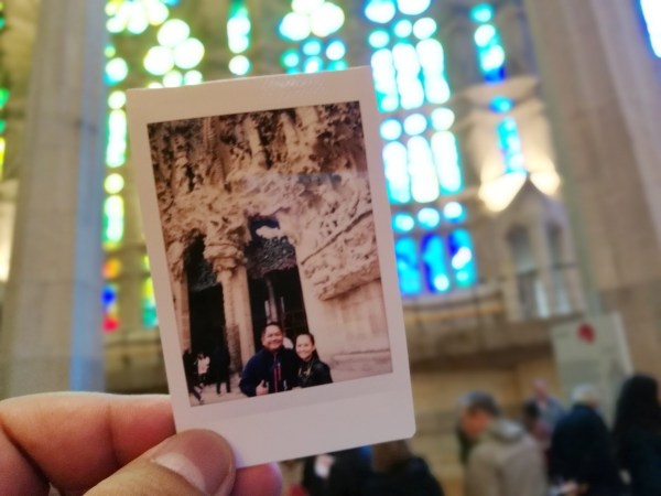 Our La Sagrada Familia souvenir photo from Monette's Instax