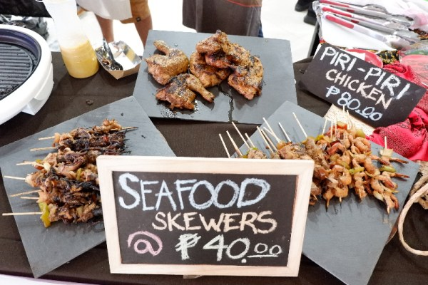 Seafood skewers by Evan Fernando of South Avenue Grill are always first to get sold out every year